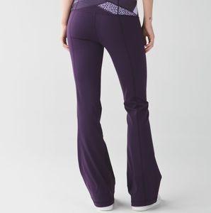 Lululemon Deep Zinfande Lilac Groove Pant Size 10